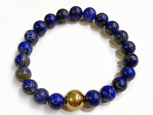 Lapis Bracelet with 14k Gold Filled Bead