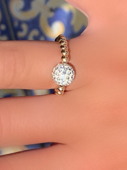 Stretchy Pave Ring