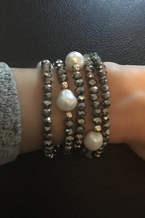 Long & Short Pyrite Necklace & Bracelet