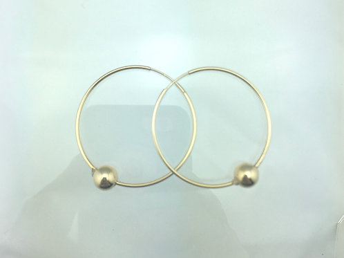 14k Gold Filled Hoop with Ball