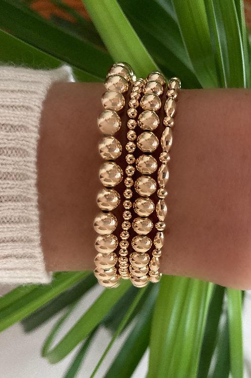 4 Bracelet Bundle of our Gold Filled Bracelets