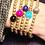 Thumbnail: Crystal Gray Deo duPont 14K Gold Filled Bracelet