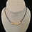 Thumbnail: Large Gold Bar Necklace - 3 Inch Bar on Leather (2 Leather Choices)