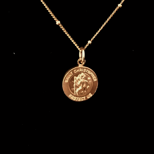 Small Saint Christopher: 14K Gold Filled Necklace