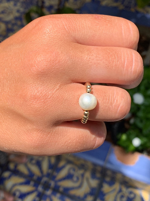 Pearl Stretchy Ring