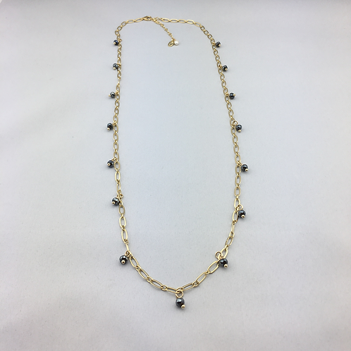 Gold Drizzled with Pyrite- 34 inches long