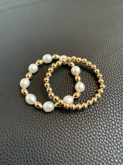 Pearl and 5mm Bracelet