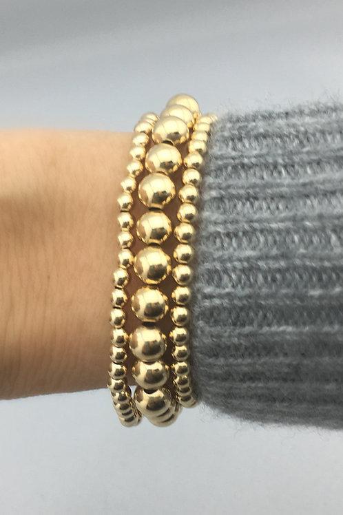 3 of our 14k Gold Filled Bracelets