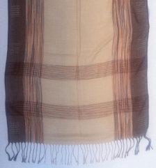 Orange, brown stripes scarf