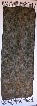 Wild silk olive green scarf