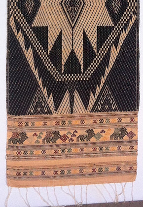 Black brocade table runner