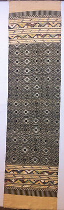 Black and creme silk shawl