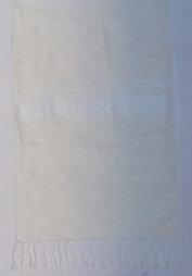 White cotton table runner