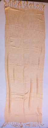 Creme wild silk scarf