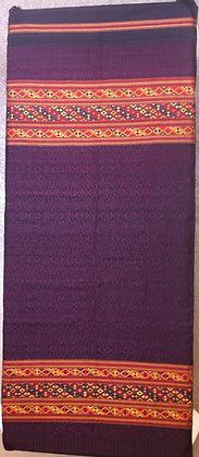 Maroon brocade shawl