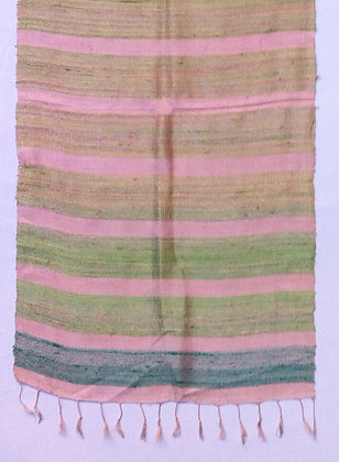 Pink with green stripes scarf