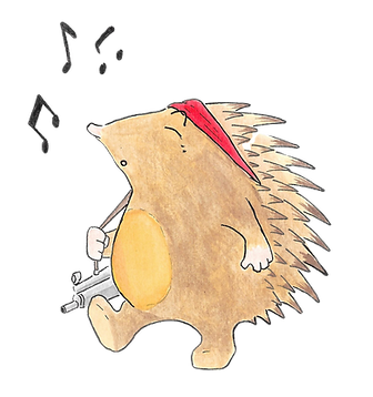 """Pløkke-palle - pindsvinet Pløkke-Palle er et rambo-pindsvin fra Marcus """"Skovfars"""" børnerim """"Sigrid - slangen uden venner"""" - et børnerim for fra 4-8 år"""
