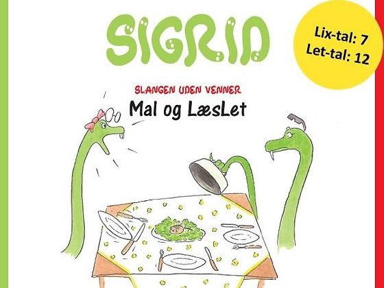 """Mal og LæsLet-sæt - baseret på """"Sigrid - slangen uden venner"""""""