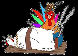 Hakke hans truer med at klippe i Fridas tå - fra Marcus Skovfars børnerim Hakke-Hans lægger et æg - en børnebog for b