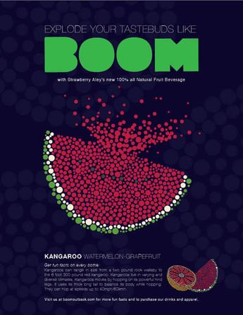 Boom Fruit Drink Advertisement