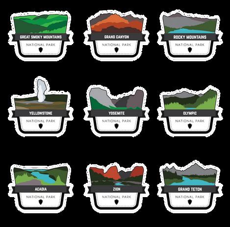 National Park Badge Logo Collection