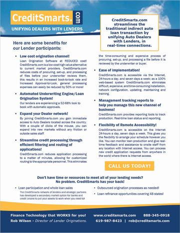 CreditSmarts Info Sheet