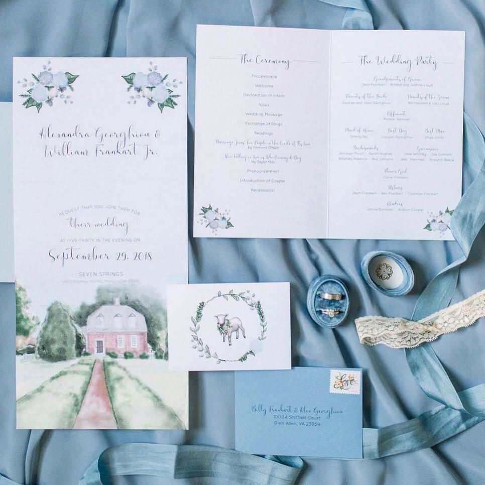 Seven Springs Wedding Invitation
