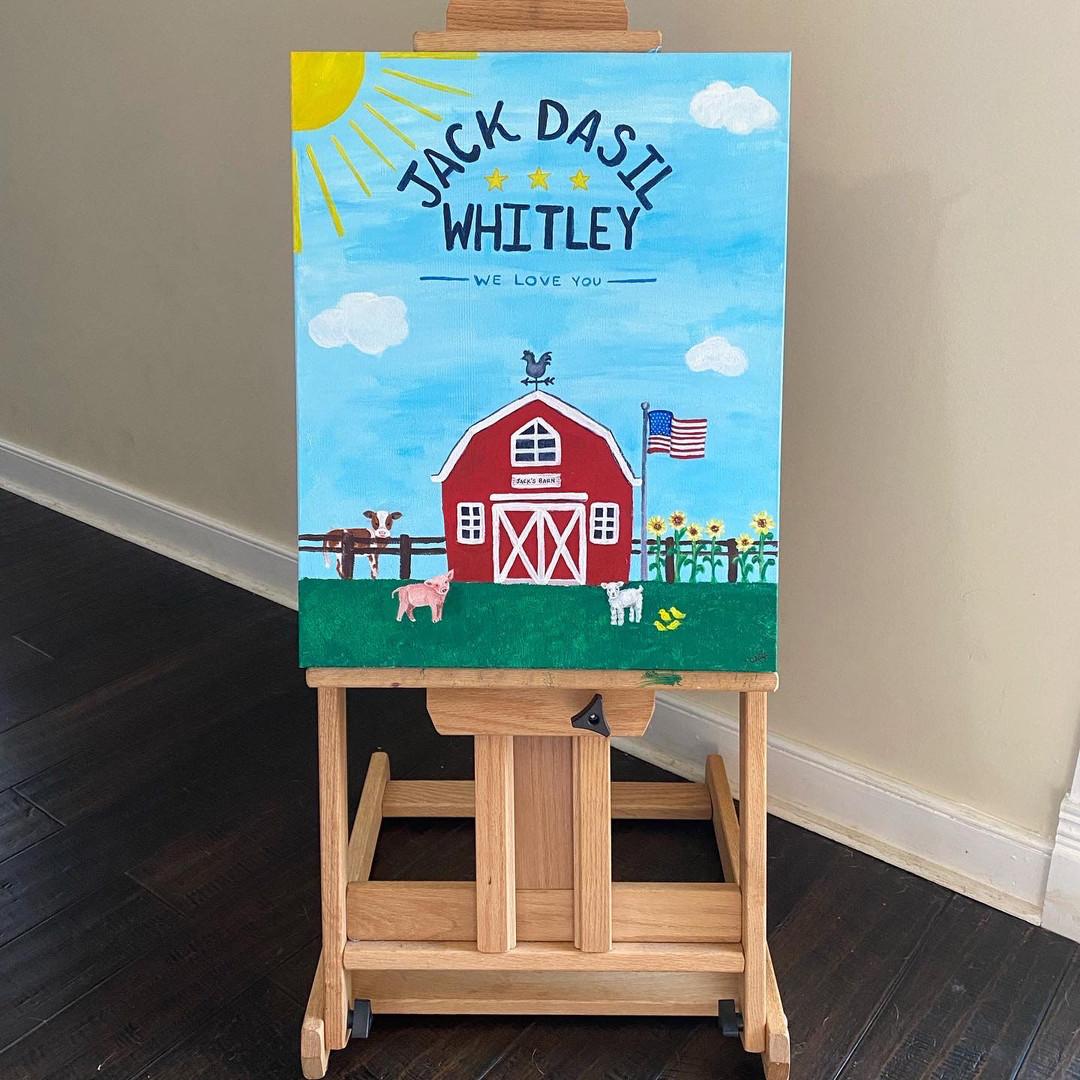 Barn Nursery Painting