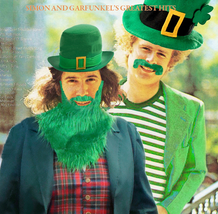 Simon and Garfunkel as leprechauns