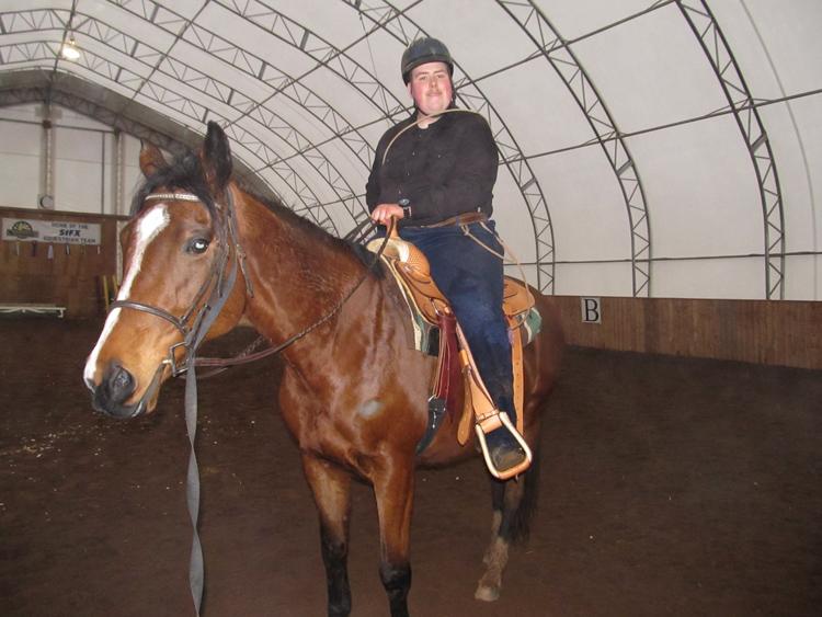 William MacLeod mounted on Sierra
