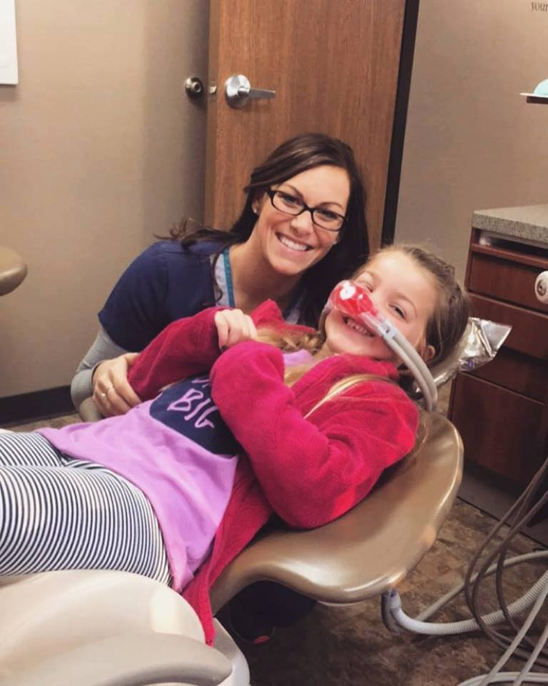 Kendra keeping our patients smiling!