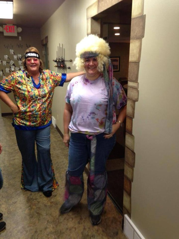 Kelly and Jodi dressed for Halloween