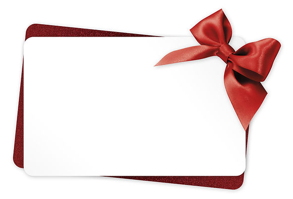 gift card with red ribbon bow Isolated o