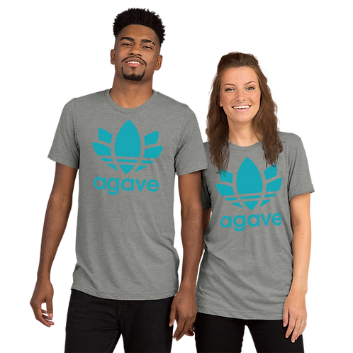 BLUE AGAVE - Unisex Tri-blend Short sleeve T-Shirt