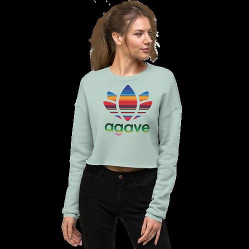 PATTERN AGAVE - Women's Crop Sweatshirt