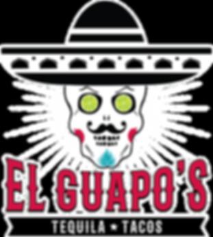 El Guapo logo Black BG White Spikes.png