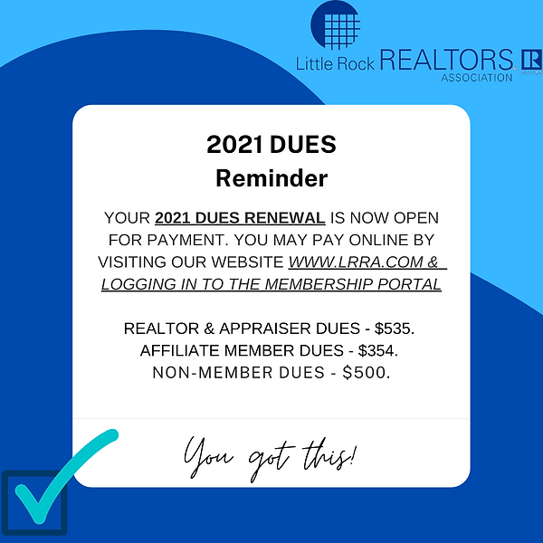 YOUR 2021 DUES RENEWAL IS NOW OPEN FOR P