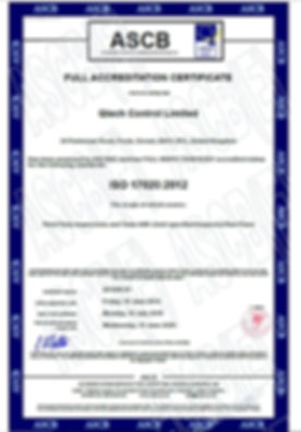 ISO 17020  2019 - 2020