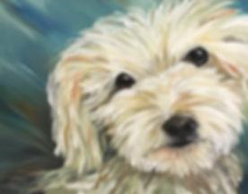 Patricia J Moss Artist Toby Dog Commissi