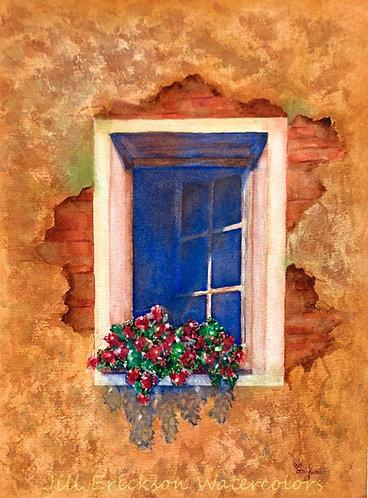 """Sunny Window"" Watercolor 14x11 Original"