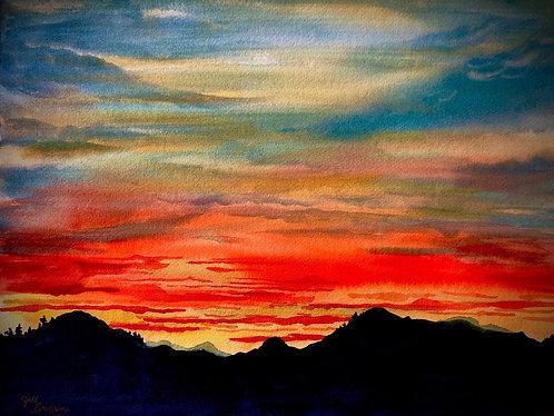 """Northwest Sunset"" 11x14 Original"