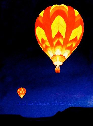 """Balloon Glow"" Watercolor 14x11 Original"