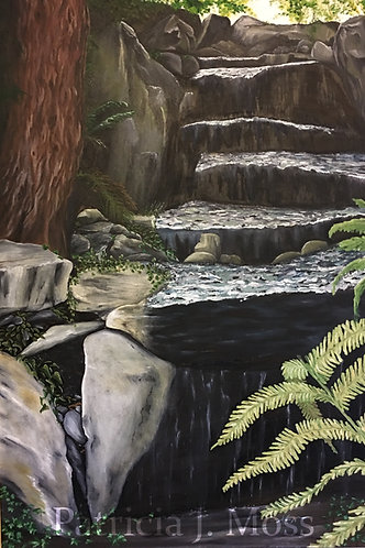 Steps of Leschi 24x36 Oil on Canvas