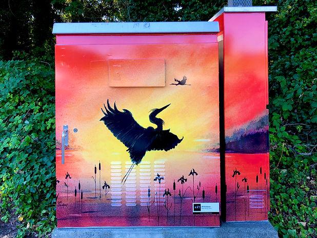 Jill Erickson Watercolors Heron Rising T