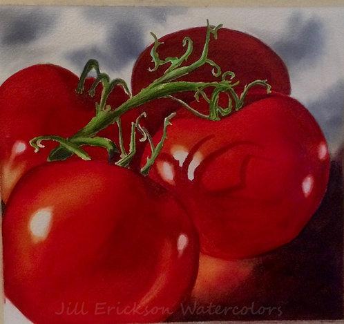 """Summer Tomatoes II"" 9x9 1/2 Original"