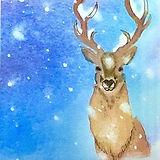 Jill Erickson Watercolors Snowy Sentry.j
