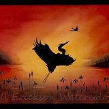 Jill Erickson Watercolors Heron Rising.j