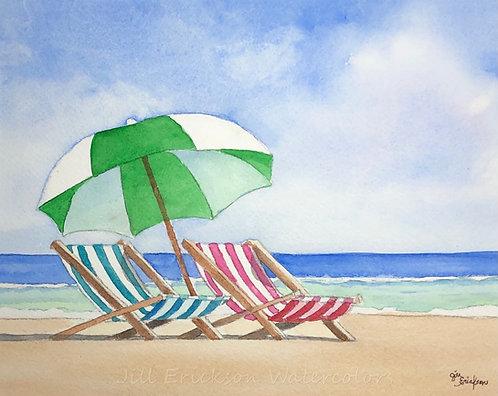 """Beach Umbrella"" 9x11 Original"