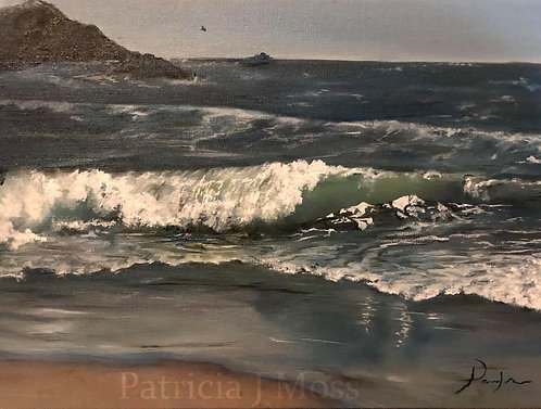 Waves of Change 12x16 oil on canvas unframed
