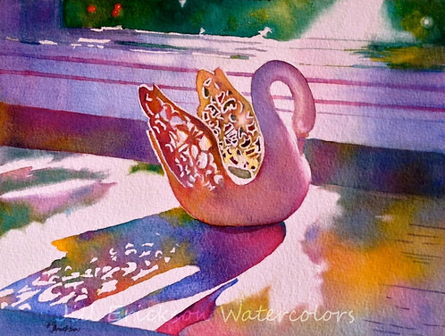 """Windowsill Shadows"" Watercolor 8x11 Original"